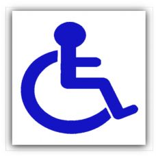 1 x Disabled Logo Sticker-Disability Wheelchair Sign,Mobility,Wheelchair,Logo,Vehicle,Car Sign